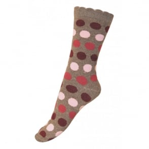 Melton Sock Dots Bubble 477 Melange Denver, Wave-shaped cuff for an irresistible look