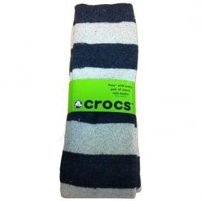 Crocs Socks Navy/White