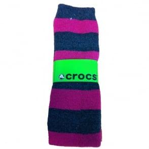 Crocs Socks Pink/Grey