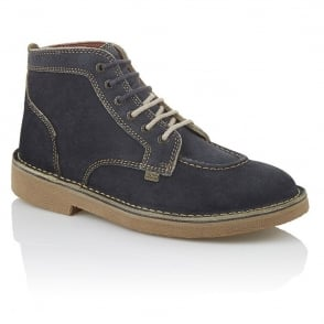 Kickers Kick Legendry Mens Dark Grey/Light Tan, Suede lace up boot