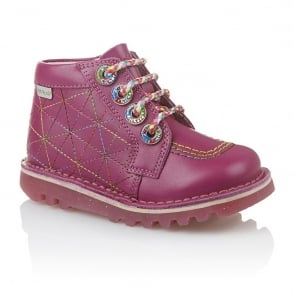 Kickers Zippy Infant Dark Pink, As fun as it is funky!