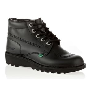 Kickers Kick Hi Mens Black, Leather lace up boot