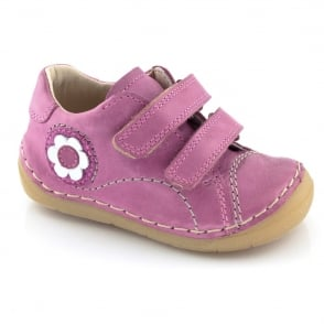 Froddo Mini Girls Velcro G2130054-2 Fuchsia, Soft leather Toddler shoe