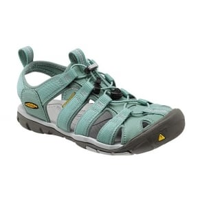 Womens Clearwater CNX Mineral Blue/Vapor, a low profile lightened version of the orignal KEEN sandal