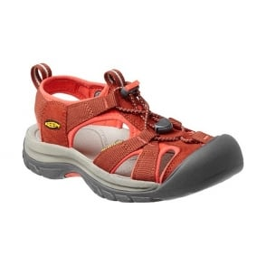 KEEN Womens Venice H2 Burnt Henna/Hot Coral, wear these in and out of the water for all day comfort