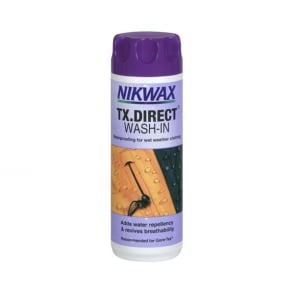 Nikwax TX Direct Wash In 300ml, The No.1 easy to use, safe, high performance wash in waterproofing for wet weather clothing.