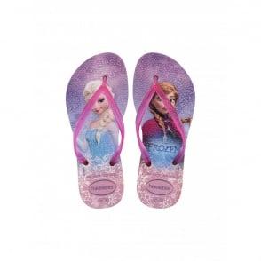 Havaianas Youth Slim Frozen Crystal Rose, the original flip flop