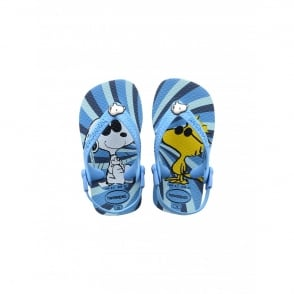 Havaianas Baby Snoopy Turquoise, the original flip flop with elastic back strap