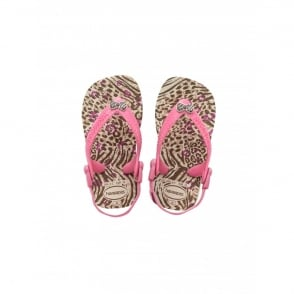 Havaianas Baby Chic Beige, the original flip flop with elastic back strap