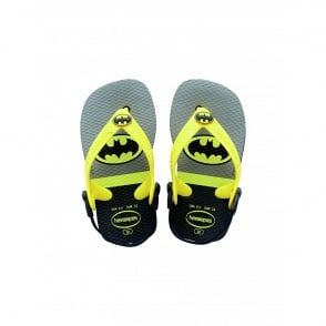 Havaianas Baby Heroes Batman Black, the original flip flop with elastic back strap
