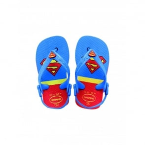 Havaianas Baby Heroes Superman Red, the original flip flop with elastic back strap