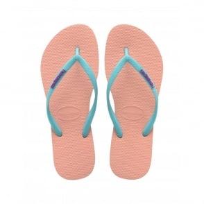 Havaianas Slim Logo Slim Light Pink, Womens fit