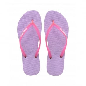 Havaianas Slim Logo Slim Soft Lilac, Womens fit