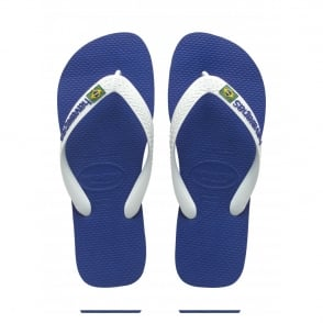 Havaianas Kids Brasil Logo Marine Blue, the original flip flop (but smaller!)