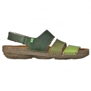 El Naturalista N317 Torcal Sandal Green Mixed, anatomical insoles adapt perfectly to the outline of your feet