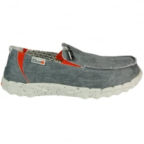 Dude Farty Funk Steel/Orange, canvas slip on mule