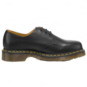 Dr Martens Adult 1461 Shoe Black, Yellow Stitch, Iconic Footwear