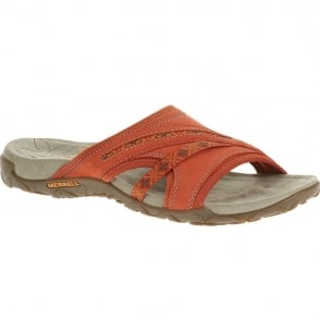 Merrell Terran Slide Red Clay, natural flex and arch support