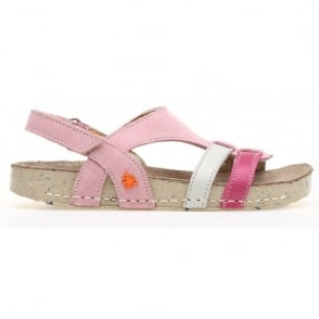The Art Company Kids A428 I Play Lux Suede-Gaucho Lotto, suede leather sandal