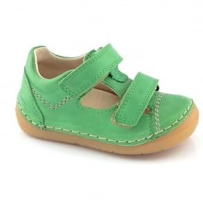 Froddo Mini Velco Sandal G2130057-3 Green, soft leather toddler shoe