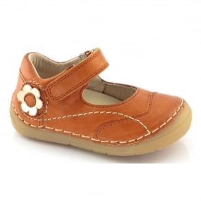 Froddo Mini Velcro MJ G2140014-3 Orange, soft leather toddler shoe
