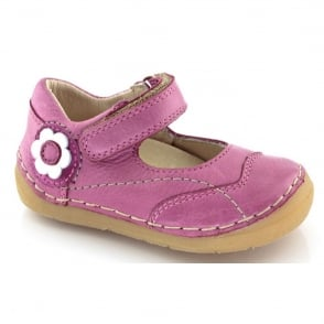 Froddo Mini Velcro MJ G2140014-2 Fuchsia, soft leather toddler shoe