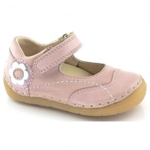 Froddo Mini Velcro MJ G2140014-1 Pink, soft leather toddler shoe