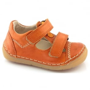 Froddo Mini Velco Sandal G2130057-5 Orange, soft leather toddler shoe