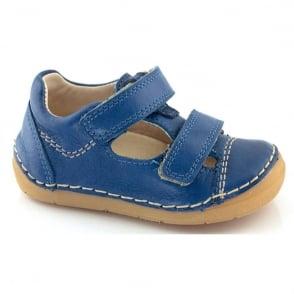 Froddo Mini Velco Sandal G2130057-1 Camoflauge (Blue), soft leather toddler shoe