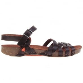The Art Company I Breathe 0976 Sandal Tinted Brown, leather sandal with buckle fastening