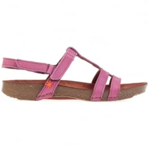 The Art Company I Breathe 0972 Sandal Magenta, with 2 adjustable velcro straps