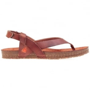 The Art Company Creta Toe Post 0446 Sandal Tinted Cuero, leather flip with adjustable backstrap