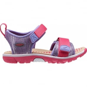 KEEN Kids Riley Purple Heart/Honeysuckle, a lightweight and flexabile sandal