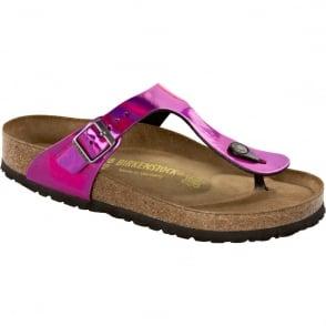 Birkenstock Kids Gizeh Mirror Pink 846903 , single toe post sandal