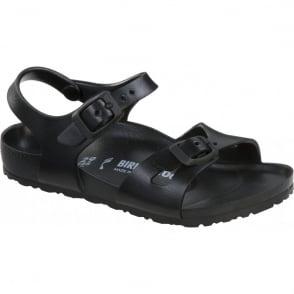 Birkenstock Kids EVA Rio Black 126113, the classic kids Rio sandal but with a EVA twist