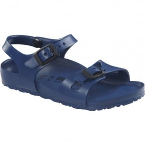 Birkenstock Kids EVA Rio Navy 126123, the classic kids Rio sandal but with a EVA twist