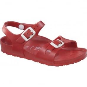 Birkenstock Kids EVA Rio Red 126133, the classic kids Rio sandal but with a EVA twist