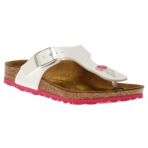 Birkenstock Gizeh Patent White 345081, The best selling Birkie toe post