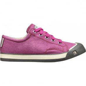 KEEN Youth Coronado Dahlia Mauve/Gargoyle, a classic canvas sneaker updated style lace up with metatomical footbed