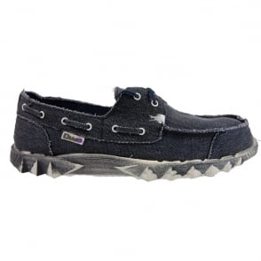 Dude Puchi Canvas Navy, Deck style lightweight shoe