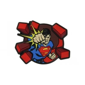 Jibbitz Superman Punching Bricks