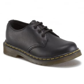 Dr Martens Colby Infant Shoe Black, lace up leather shoe
