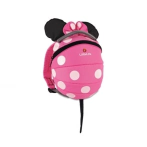 LittleLife Toddler Daysack Pink Minnie, kids rucksack with detachable reins!
