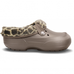 Crocs Blitzen II Clog Animal Print Pewter/Chai, warm and woolly easy to remove liner