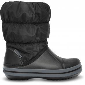 Crocs Kids Winter Puff Boot Black/Charcoal, puffed boots for warmth