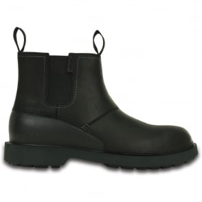 Crocs Breck Boot Black, mens lightweight leather boot