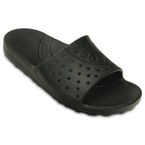 Crocs Chawaii Slide Black, lightweight slip on sandal perfect for around the house, pool or beach