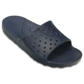 Crocs Chawaii Slide Navy, lightweight slip on sandal perfect for around the house, pool or beach!