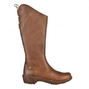 El Naturalista NE20 Boot Kaki, Tall boot with back lace detail