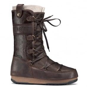 MoonBoot Moon Boots Monaco Mix Dark Brown, Waterproof Iconic Boot